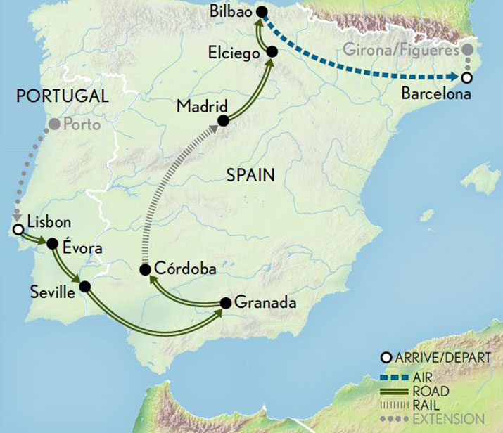 Spain-Portugal-A-Journey-Across-Iberia-Map-2019