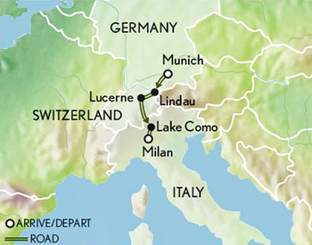 Map Of Germany And Switzerland.Tailor Made Germany Switzerland Italy The Alps From Bavaria To