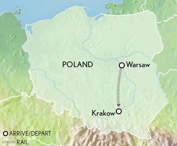Tailor-Made-Poland-Warsaw-Krakow-Map-2019