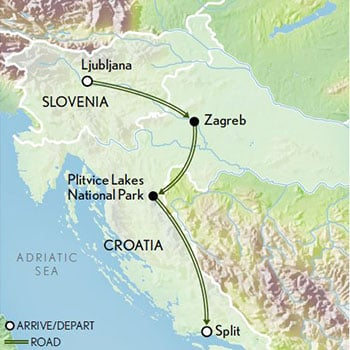 Tailor-Made-Slovenia-Croatia-Ljubljana-Lake-Bled-and-Zagreb-updated-Map-2019