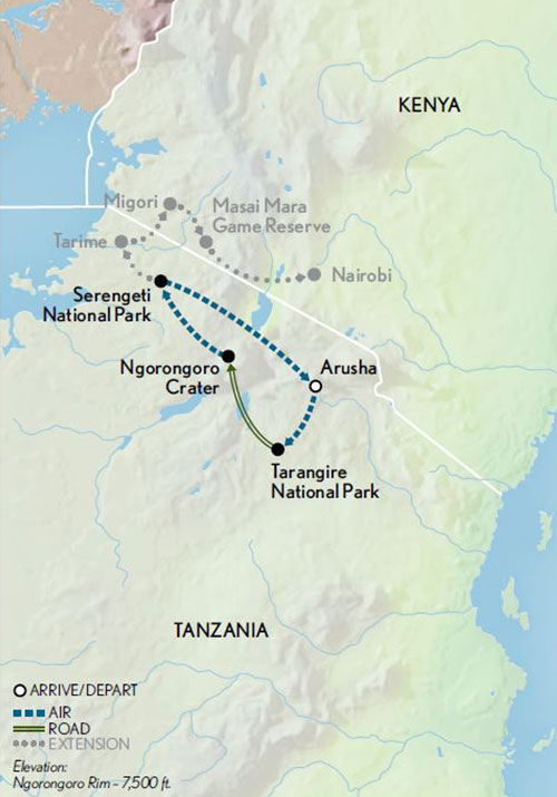 Tanzania-Safari-in-Style-Map-2019