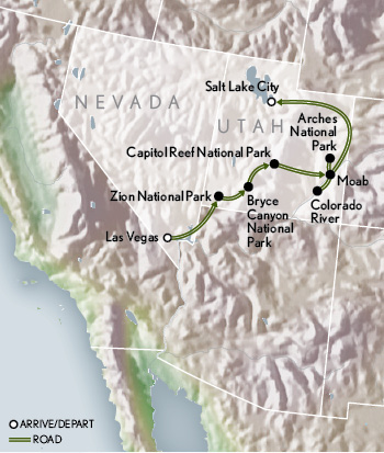 Amerericas Utahs Mighty Five map