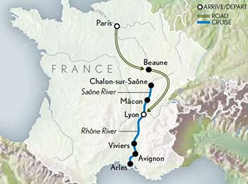 Paris-Burgundy-a-South-of-France-Cruise-Map-2020