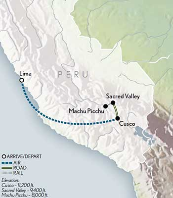 Tailor Made Family Peru Map 2020