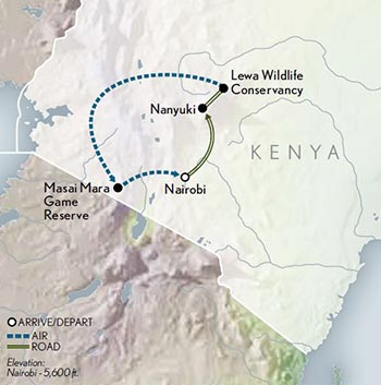 Tailor-Made-Kenya-Family-Safari-Map-2020
