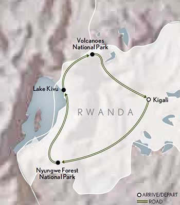 Tailor-Made-Rwanda-Gorilla-Trekking-Adventure-Map-2020