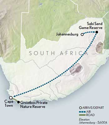 Tailor-Made-South-Africa-Kruger-to-the-Cape-Map-2020
