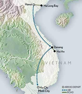 Tailor-Made-Vietnam-North-to-South-Map-2020