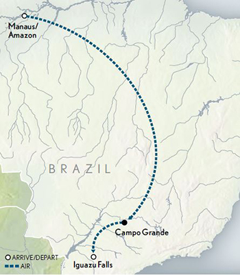 2021 Brazil The Amazon map