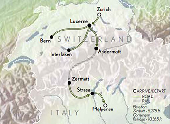 2021 Connections Switzerland Italian Lakes map