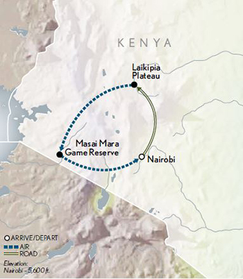 2021 Kenya Safari In Style map