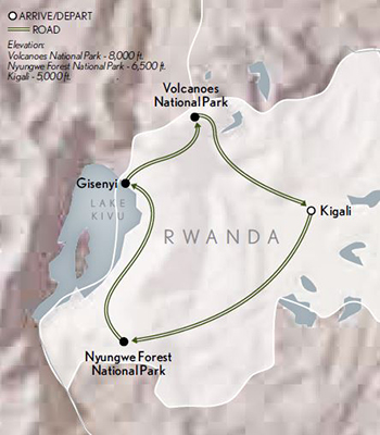 2021 Rwanda Land Thousand Hills map