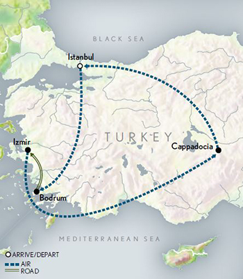 2021 Turkey Journey Through History map