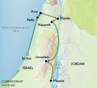 Israel: Crossroads of History Map
