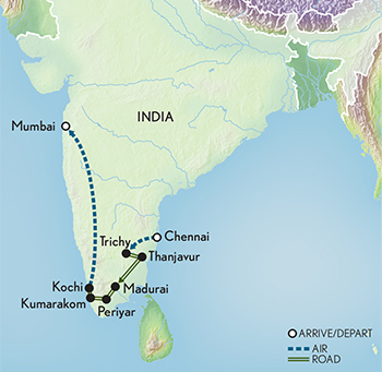 Tailor Made India: Mysteries of the South Map