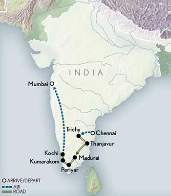 Tailor-Made-India-Mysteries-of-the-South-Map-2020