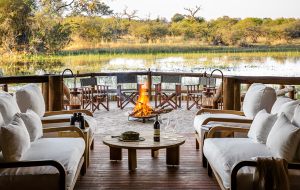 Africa Botswana Sanctuary Chiefs Camp Deck