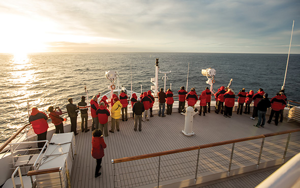 Antarctica At Sea Deck Guests