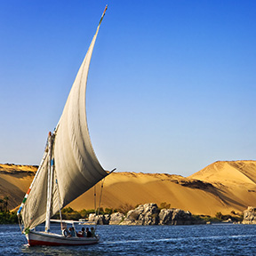 Middle East Egypt Nile River Cruise felucca