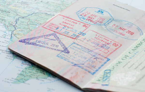 White Glove Visa Passport Stamps Map